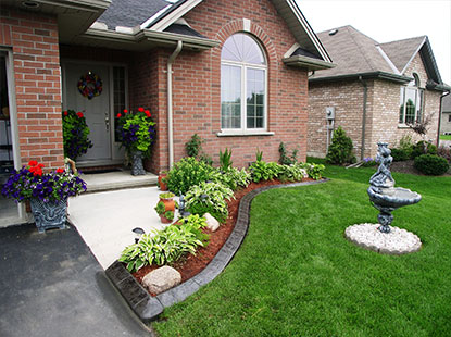 Landscape Curbing and Walkways Olympic Lawn Landscape Inc